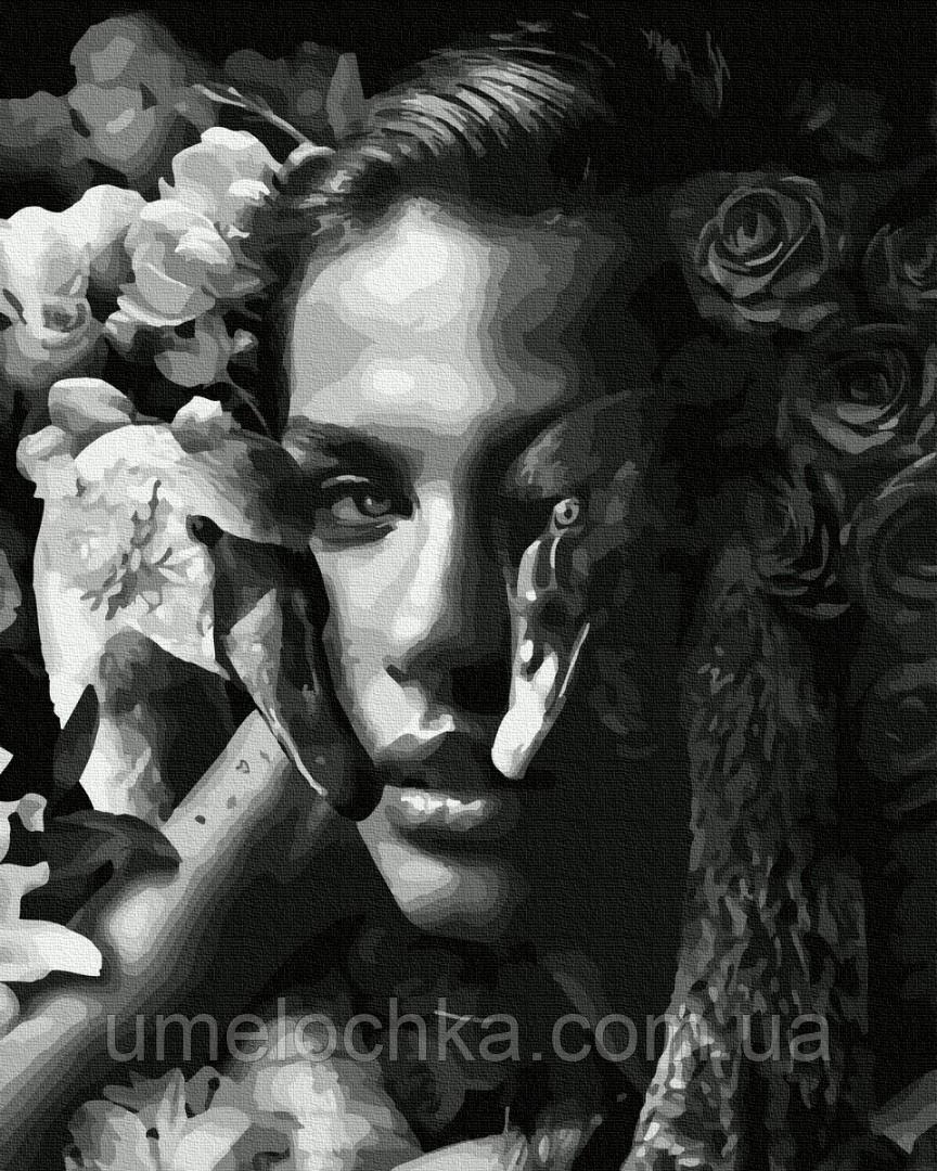 Картина по номерам BrushMe Женщина с лебедями (BRM35638) 40 х 50 см