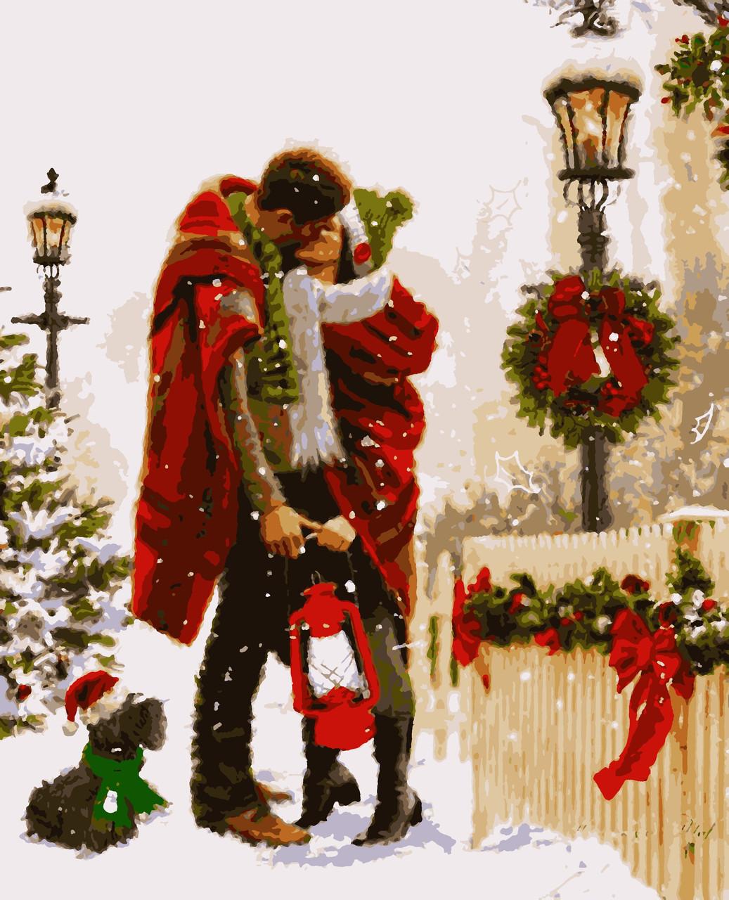 """Картины по номерам """"Різдво з любов'ю"""" 50*60 см"""