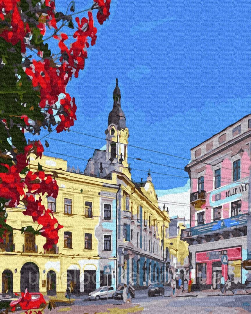 Картина по номерам BrushMe Черновцы Центральная площадь (BRM36584) 40 х 50 см