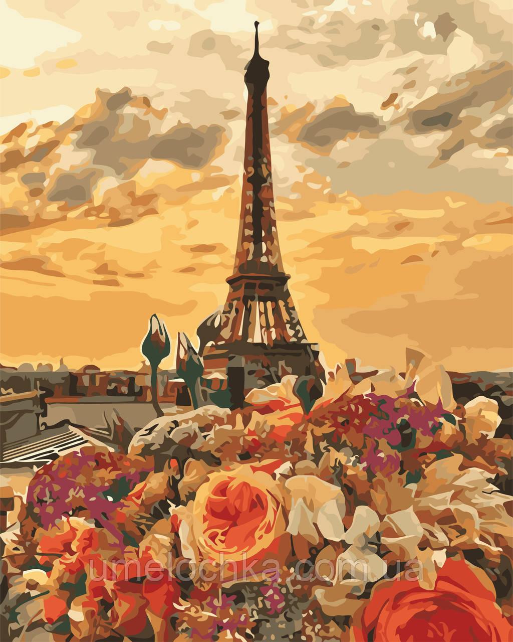 Картина по номерам Вечерний Париж (AS0659) 40 х 50 см ArtStory