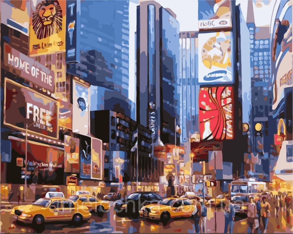 Картины по номерам BrushMe Нью-Йорк Таймс Сквер Худ Ланчак МВ (BRM8136) 40 х 50 см