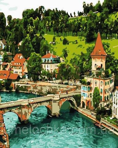 Картина по цифрам ArtStory Немецкий замок (AS0693) 40 х 50 см