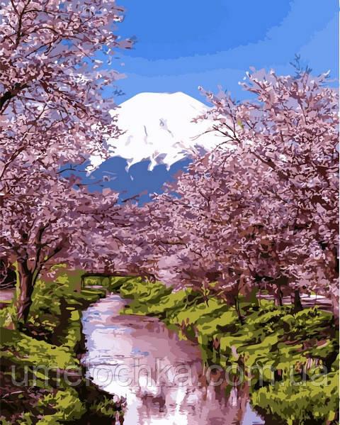 Картина по номерам Цветущая сакура 2 (MR-Q2195) 40 х 50 см Mariposa