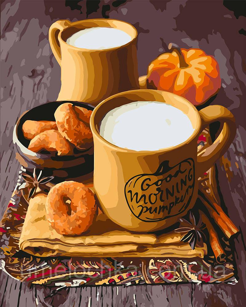 Картина по номерам Идейка Круллеры с молоком (KH5590) 40 х 50 см
