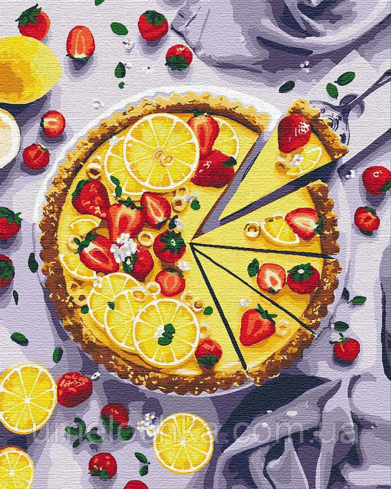 Картина по номерам Идейка Лимонный пирог (KH5594) 40 х 50 см