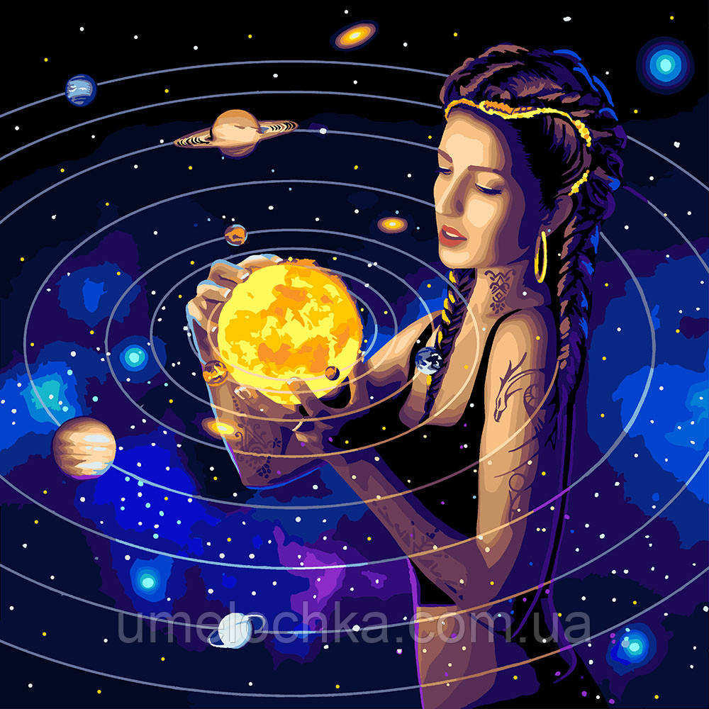 Картина по номерам Идейка Покоряя вселенную (KH9539) 50 х 50 см
