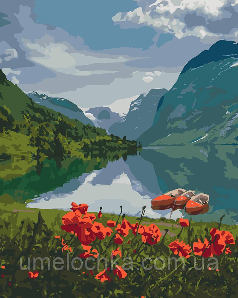 Рисование по номерам Красота Норвегии (KHO2256) 40 х 50 см Идейка (Без коробки)