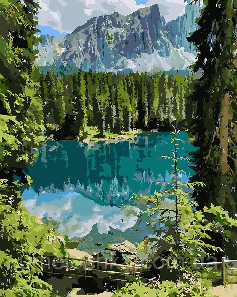 Картина за номерами Ідейка Загадкове озеро (KHO2270) 40 х 50 см (Без коробки)