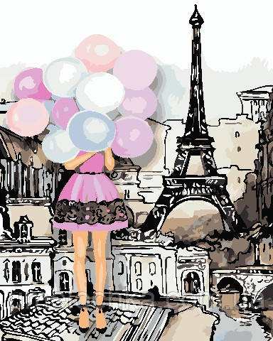 Картина за номерами ArtStory Фарби Парижа (AS0760) 40 х 50 см