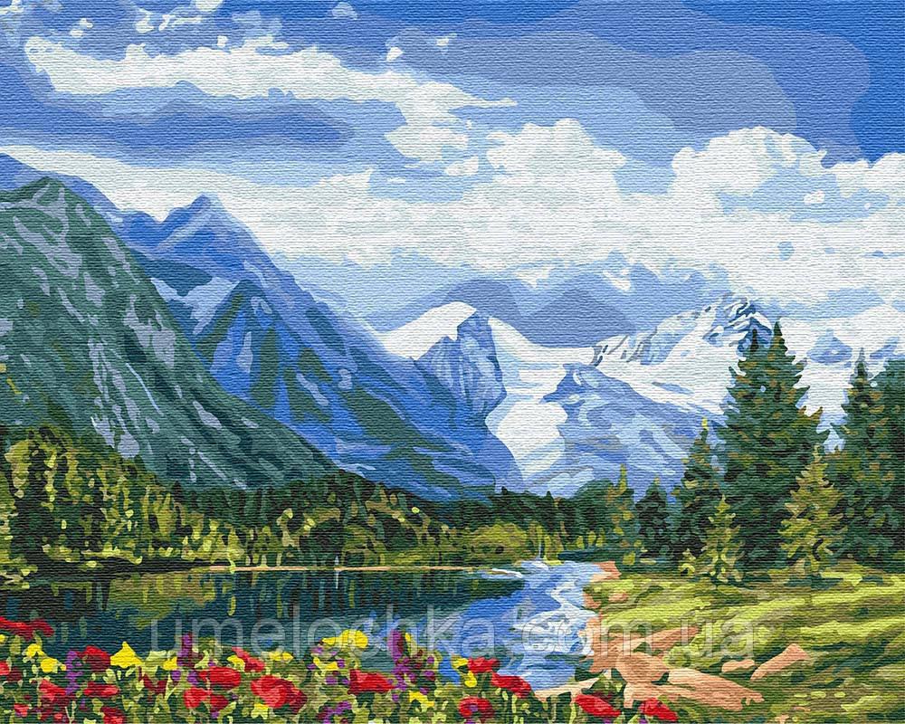 Картина по номерам Идейка Альпийское совершенство (KHO2288) 40 х 50 см (Без коробки)