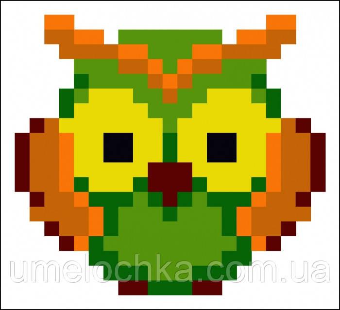 Набор для изготовления картины со стразами (наклейка) Сова Артикул: 198549 Размер: 9*9 см