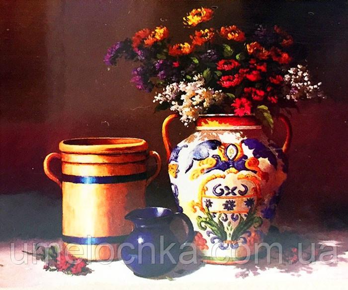 Набор для творчества со стразами 5D Букет у китайской вазе Артикул: 198528 Размер: 50*60