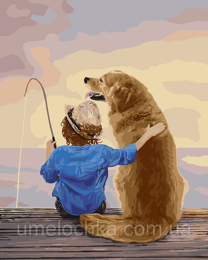 Картина по номерам Идейка Рыбалка с другом (KHO2341) 40 х 50 см (Без коробки)