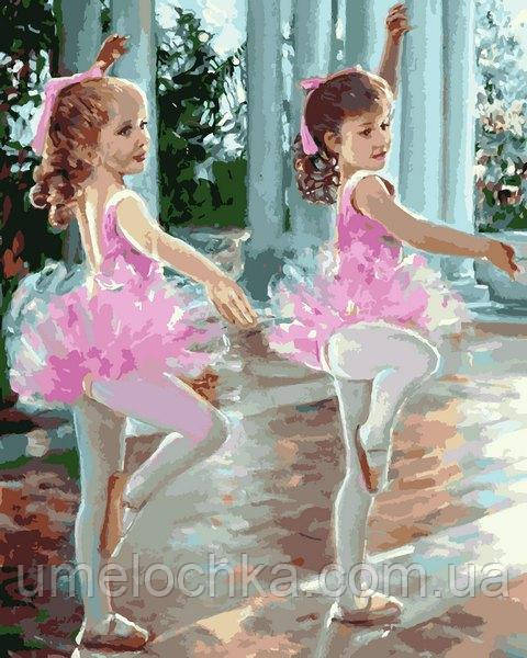 Картина по номерам Mariposa Маленькие балерины (MR-Q2244) 40 х 50 см
