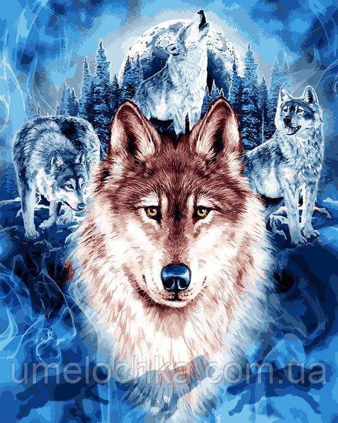 Картина по номерам Mariposa Волки (MR-Q2246) 40 х 50 см