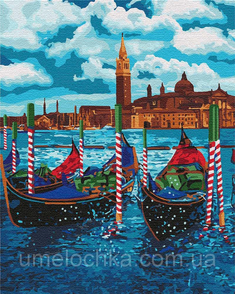 Картина по номерам Идейка Венецианское такси (KHO2749) 40 х 50 см (Без коробки)
