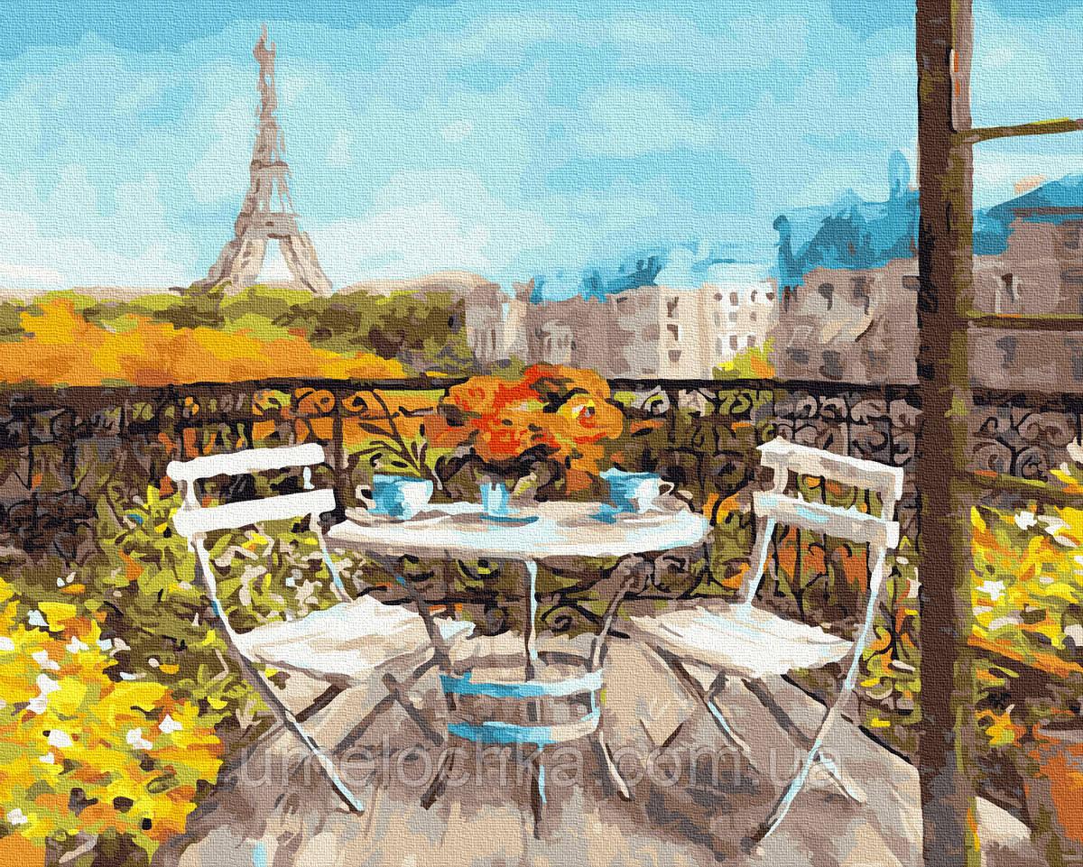 Рисование по номерам  Солнечное утро в Париже (BK-GX25523) 40 х 50 см (Без коробки)
