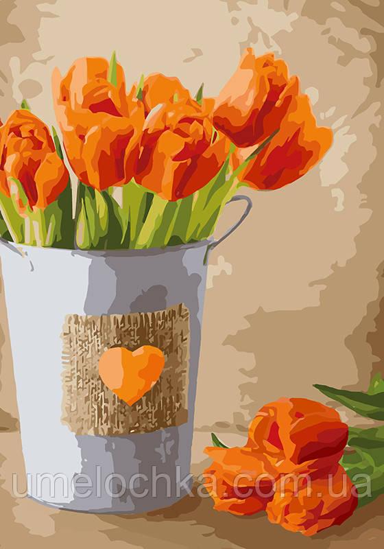 Картина по номерам Праздник любви (KHO2940) 35 х 50 см Идейка (Без коробки)