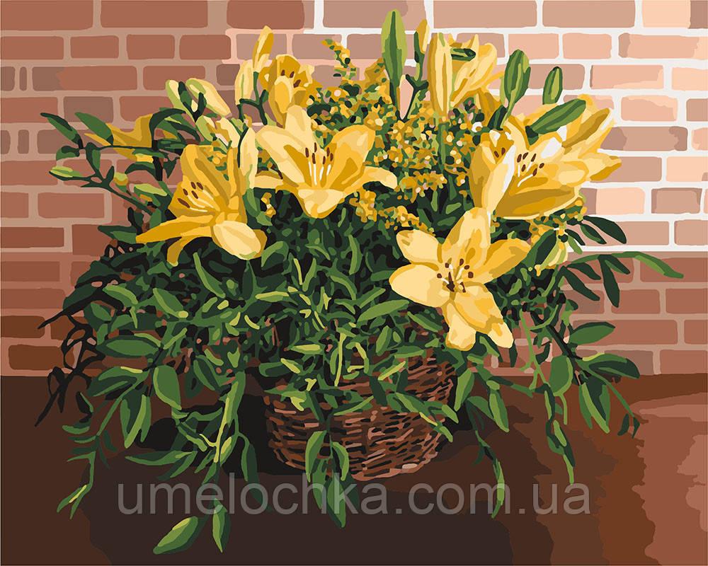 Картина по номерам Идейка Изысканные лилии (KHO3067) 40 х 50 см (Без коробки)