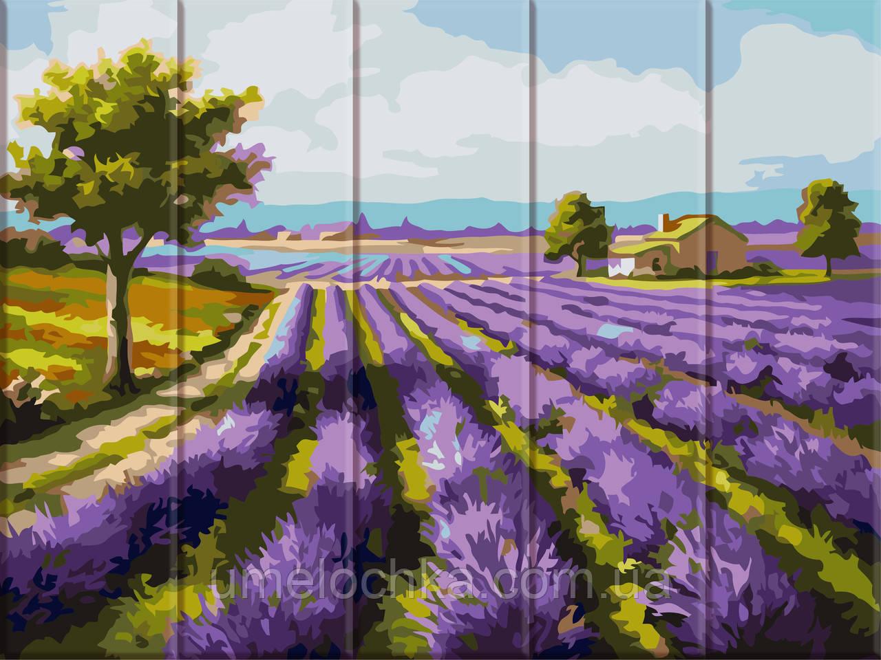Картина за номерами на дереві Лавандове поле (ASW070) 30 х 40 см ArtStory