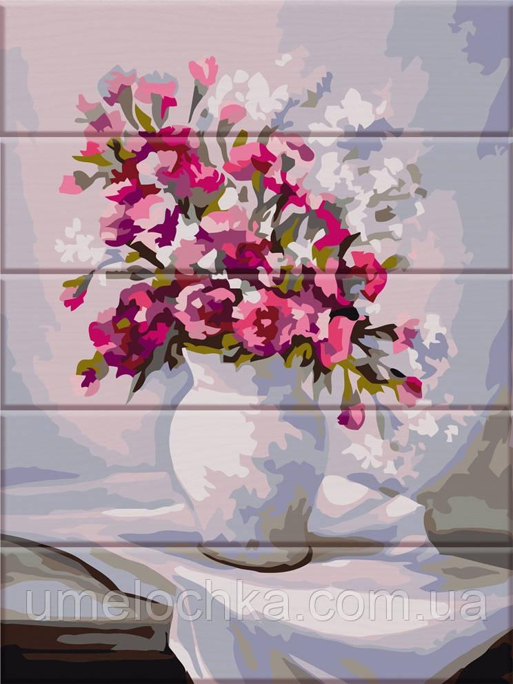 Картина по номерам на дереве ArtStory Весенние цветы (ASW079) 30 х 40 см