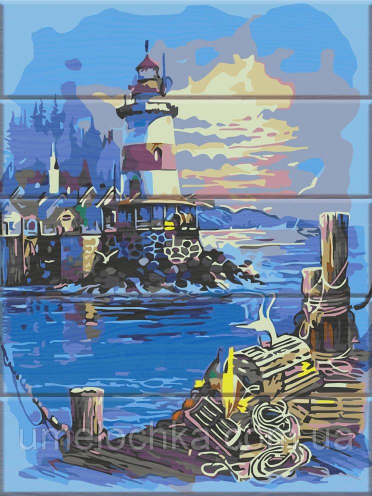 Картина по номерам на дереве ArtStory Свет маяка (ASW106) 30 х 40 см