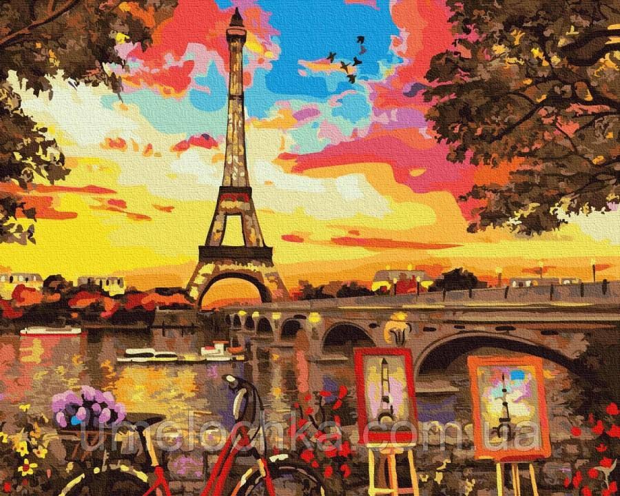 Картина по номерам  Живописный уголок в Париже (BK-GX32613) 40 х 50 см (Без коробки)