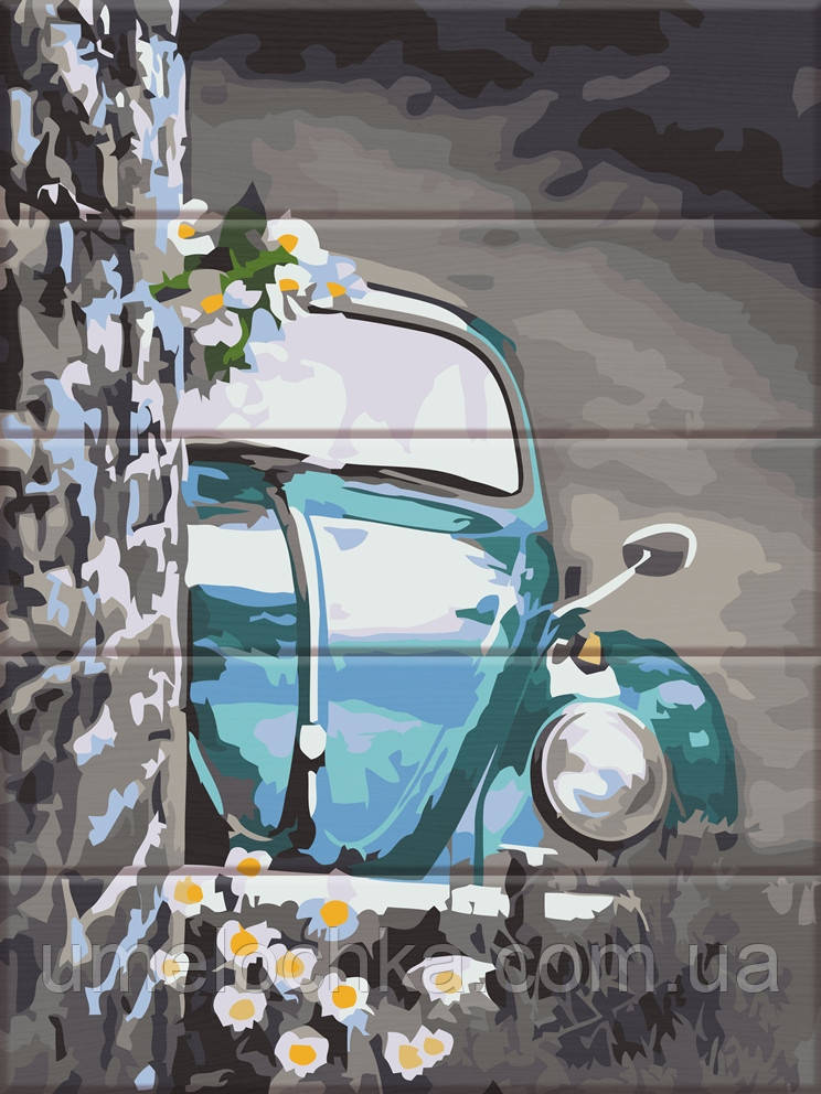 Картина по номерам на дереве ArtStory Ретро авто (ASW124) 30 х 40 см