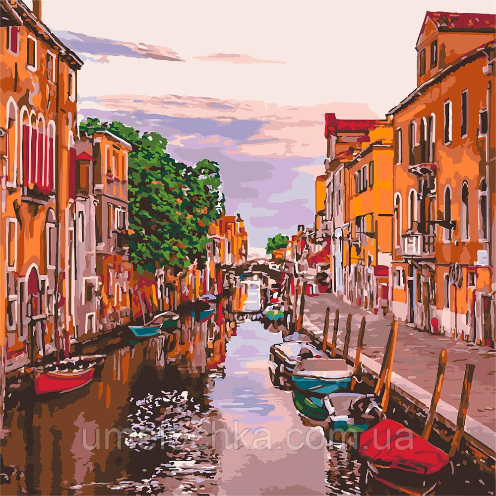 Картина по номерам Идейка Венецианский вечер (KHO3571) 40 х 40 см (Без коробки)