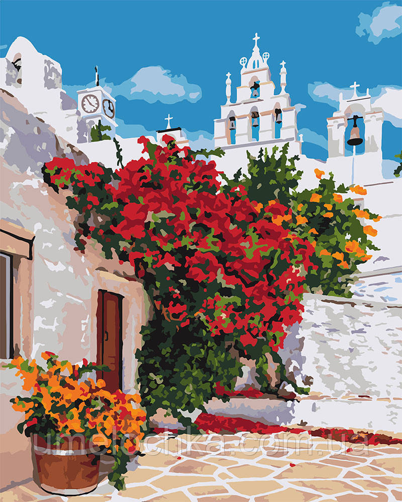 Картина по номерам Идейка Дом в цветах (KHO3577) 40 х 50 см (Без коробки)