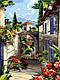 Розмальовка для дорослих Середземноморські вулички (VK095) 30 х 40 см DIY Babylon, фото 2