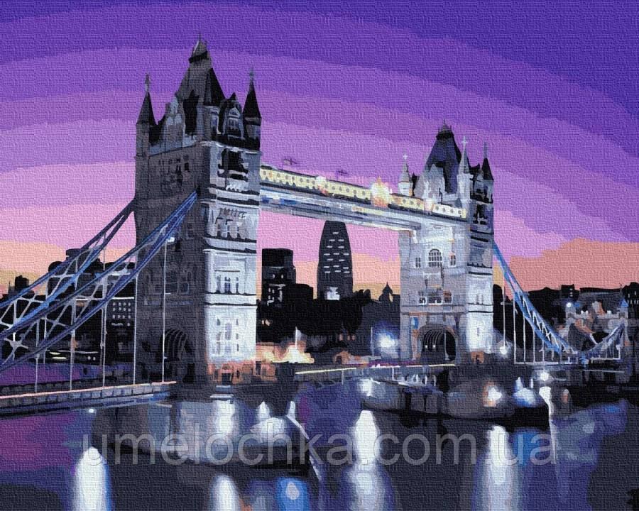 Раскраска по номерам  Тауэрский мост в лунном свете (BK-GX36149) 40 х 50 см (Без коробки)
