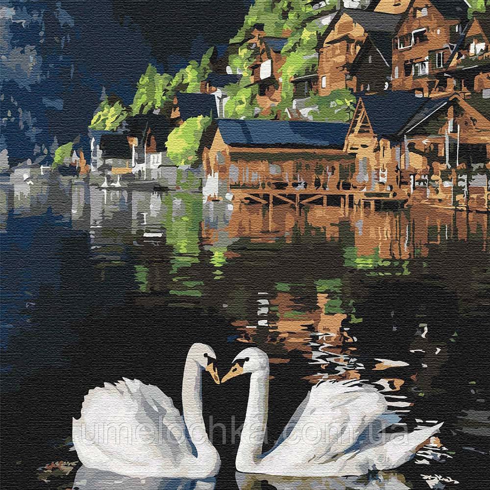 Картина по номерам Идейка Волшебные лебеди (KHO4199) 30 х 30 см (Без коробки)