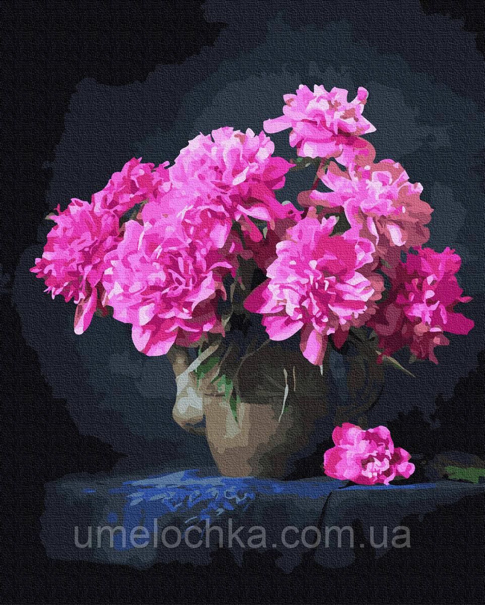 Картина по номерам  Розовые пионы (BK-GX37791) 40 х 50 см (Без коробки)