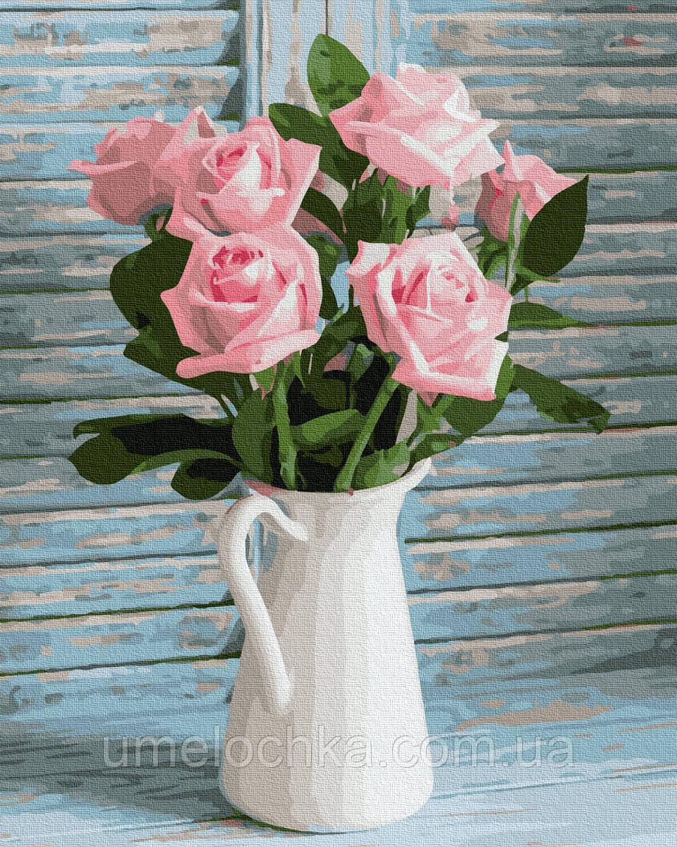 Картина по номерам  Свежие розы (BK-GX37824) 40 х 50 см (Без коробки)