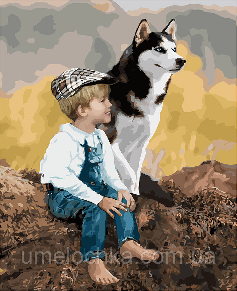 Картина раскраска Идейка Настоящие друзья (KHO4660) 40 х 50 см (Без коробки)