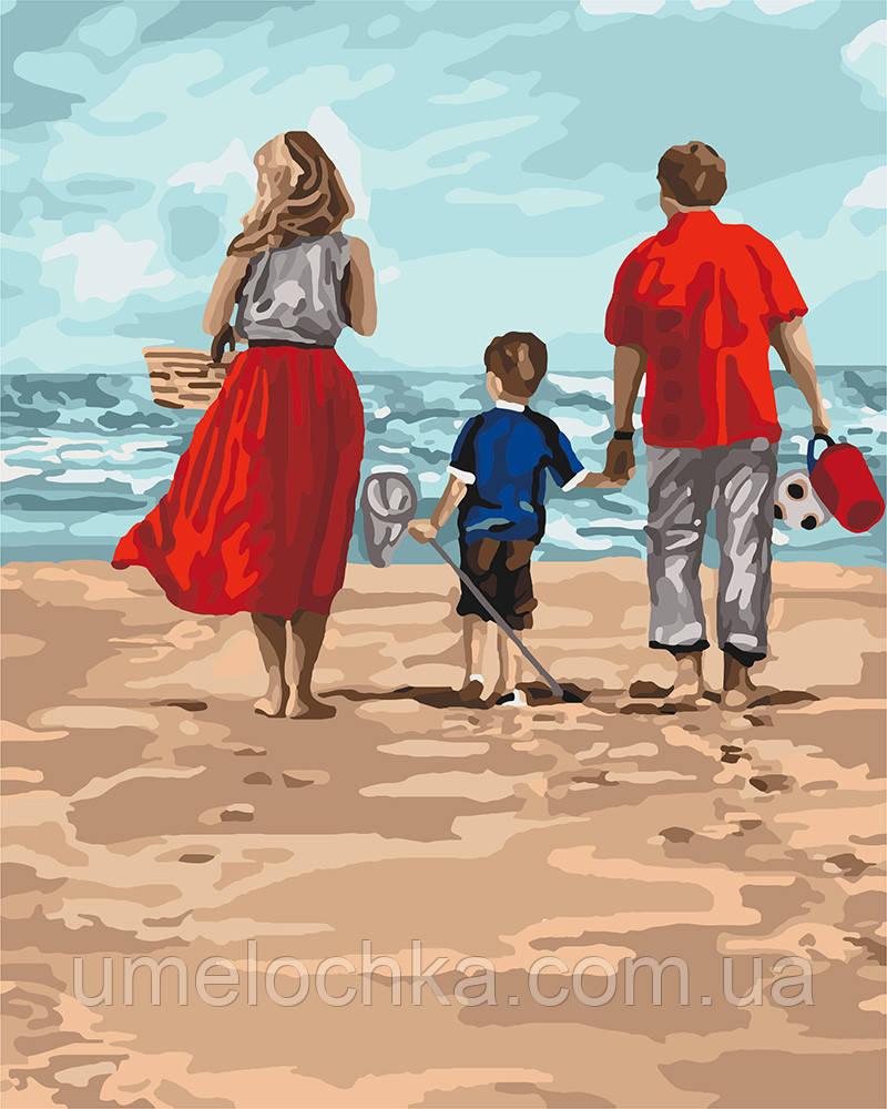 Картина по номерам Идейка Семейный отдых (KHO4679) 40 х 50 см (Без коробки)