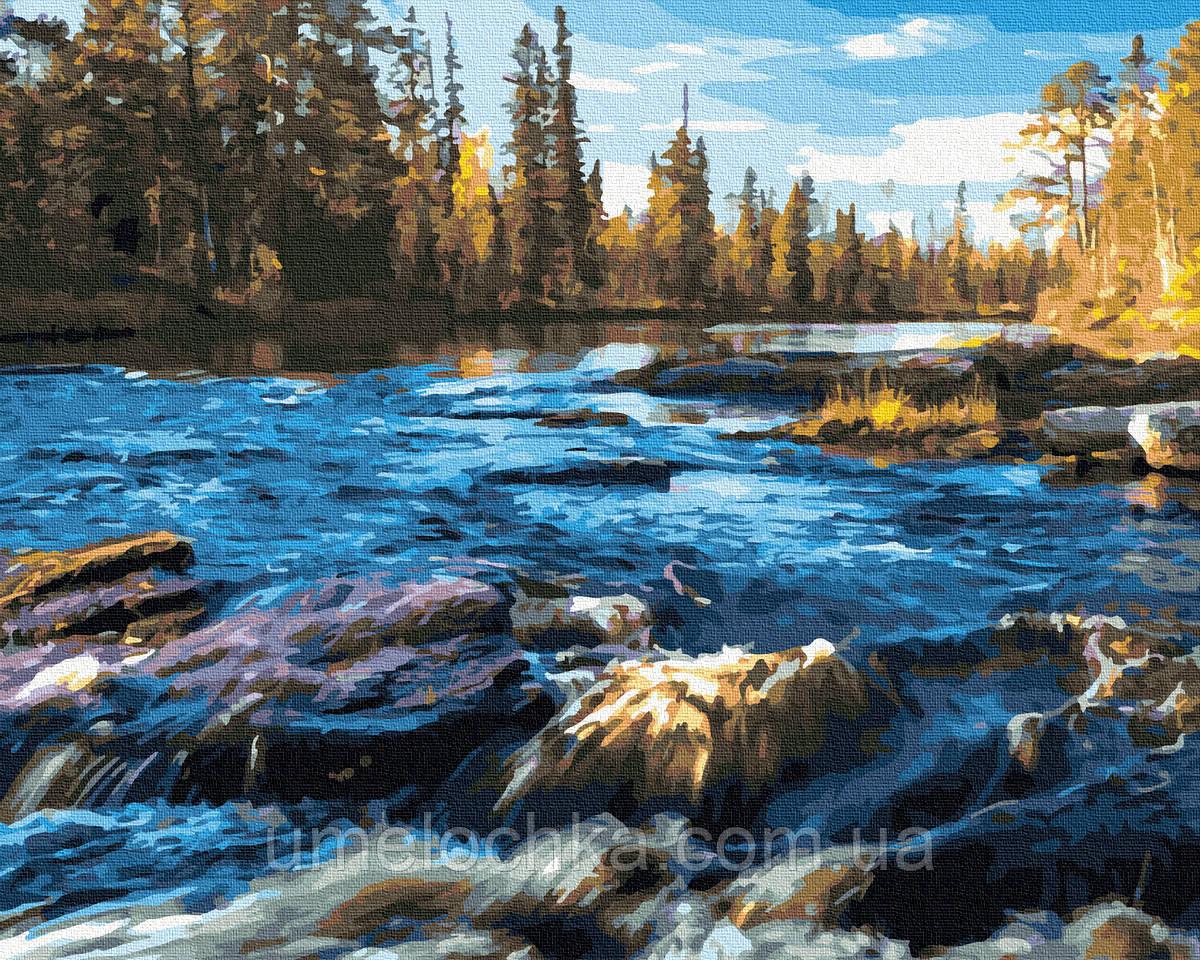 Картина по номерам  Порожистая река (BRM30428) 40 х 50 см