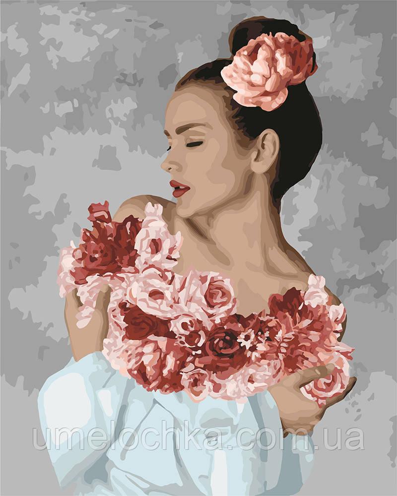 Картина раскраска Идейка Цветочное настроение (KHO4748) 40 х 50 см (Без коробки)