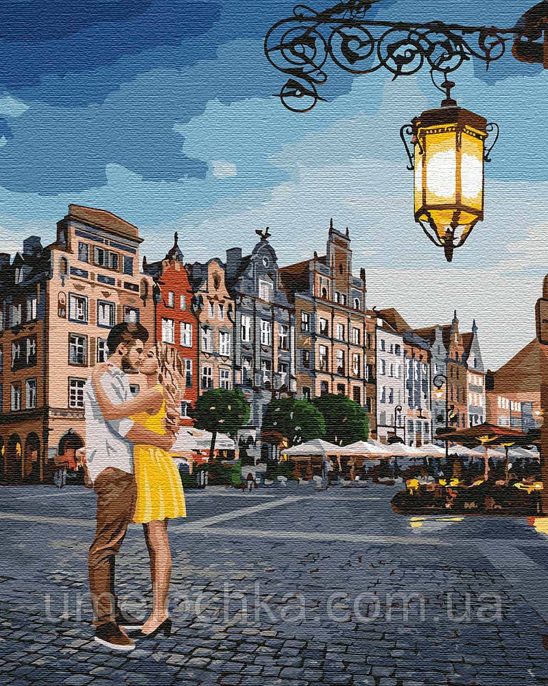 Холст для рисования Идейка Свидание в Гданьске (KHO4755) 40 х 50 см (Без коробки)
