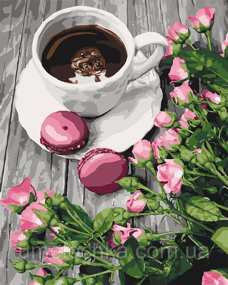 Картина по номерам Романтический кофе (KHO5559) 40 х 50 см Идейка (Без коробки)