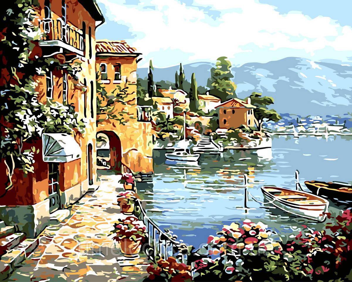 Картина по номерам  Живописный залив (BRM32191) 40 х 50 см