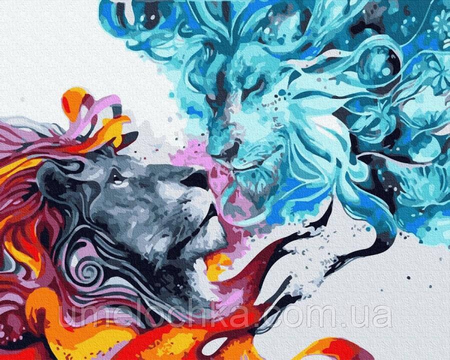 Картина по номерам  Лёд и пламя (BRM32435) 40 х 50 см