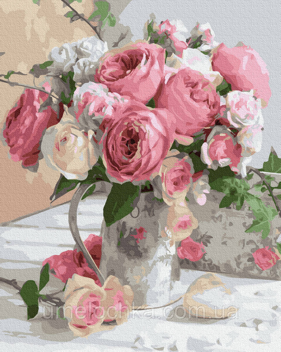Картина по номерам  Утренние розы (BRM32946) 40 х 50 см