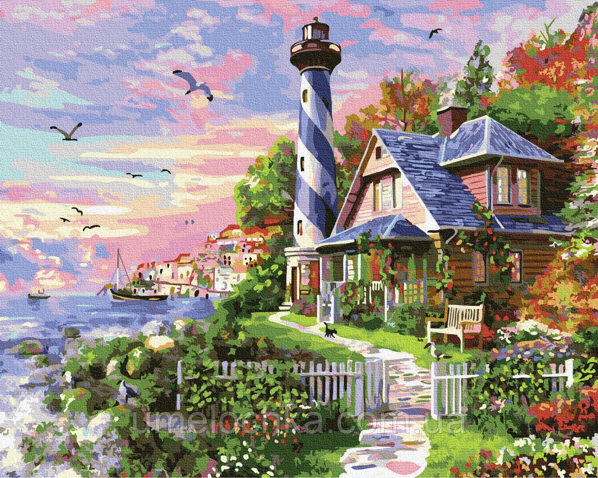 Картина по номерам  Чайки у маяка (BRM33476) 40 х 50 см