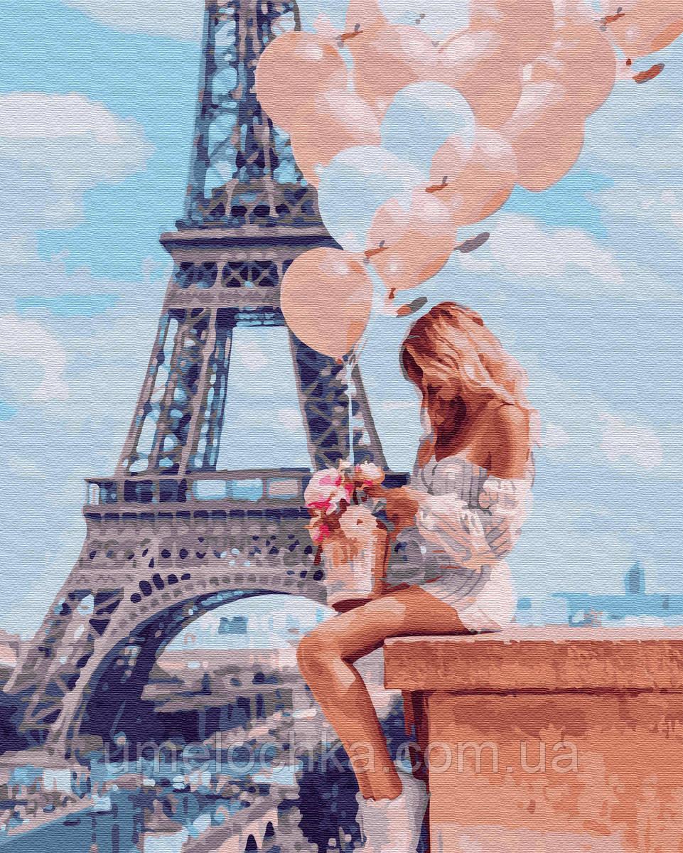 Картина по номерам  Романтика в Париже (BK-GX26714) 40 х 50 см (Без коробки)