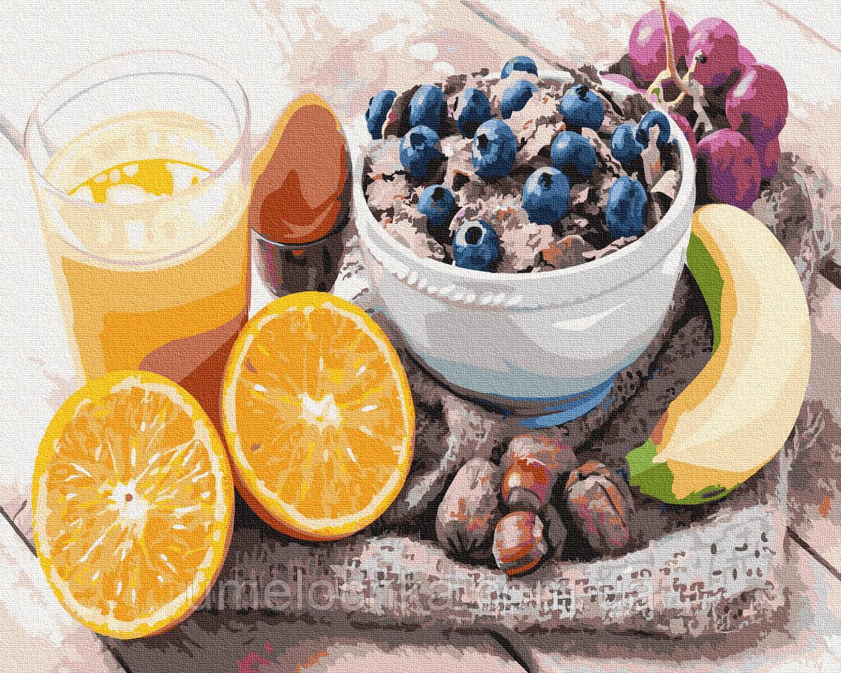 Картина по номерам  Разнообразный завтрак (BRM34872) 40 х 50 см