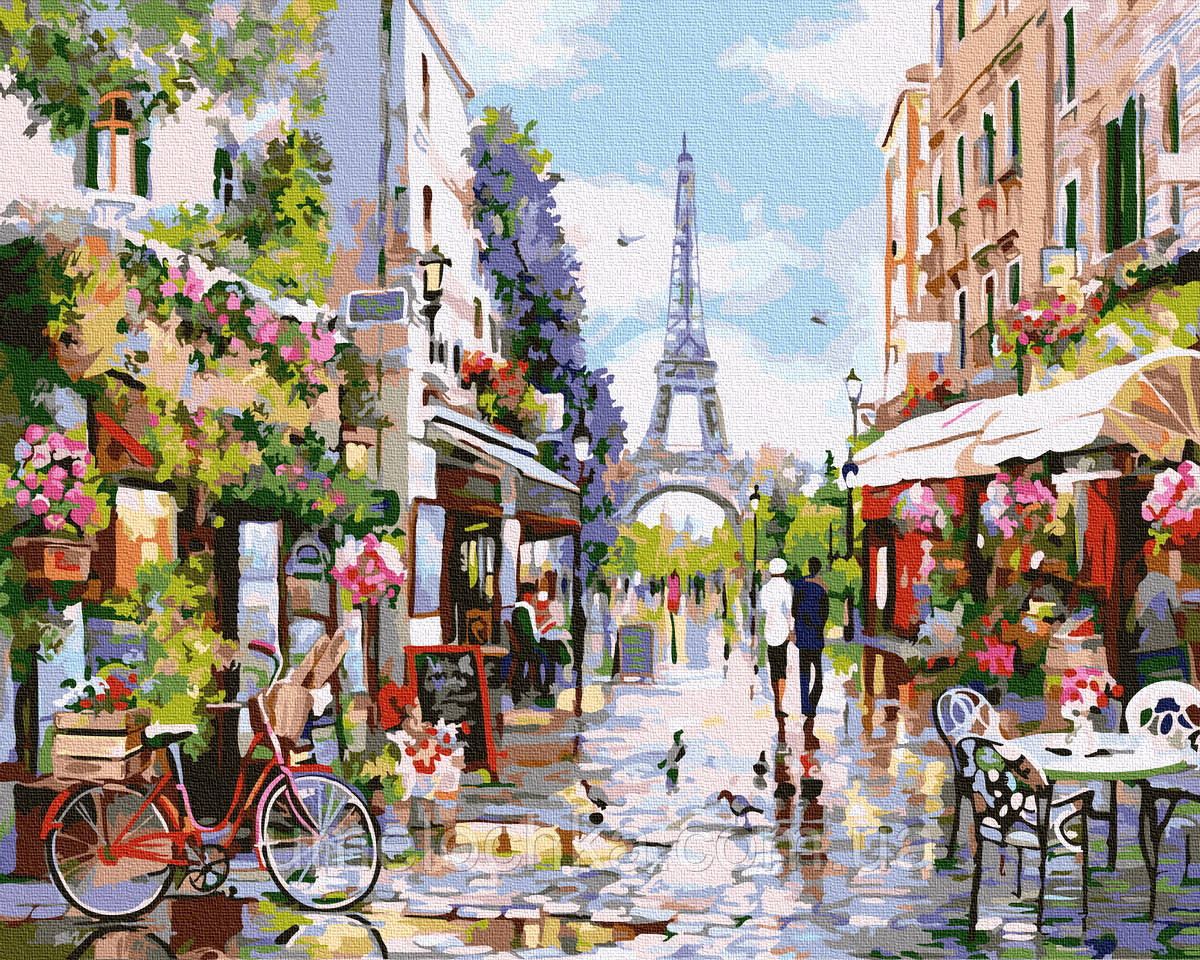 Картина по номерам  Цветущий Париж (BK-GX32748) 40 х 50 см (Без коробки)