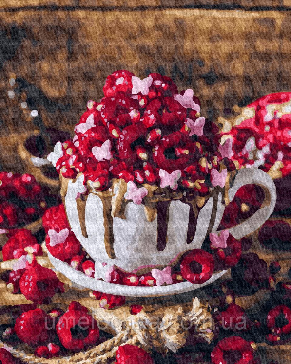 Картина по номерам  Малиновый десерт (BRM37848) 40 х 50 см