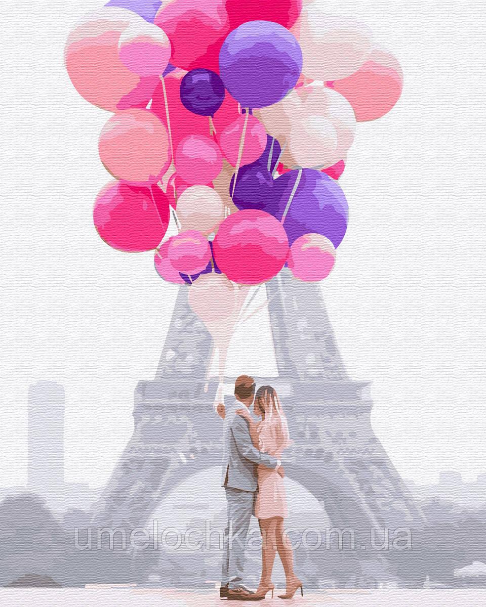 Рисунок по цифрам  Воздушная любовь (BK-GX34553) 40 х 50 см (Без коробки)